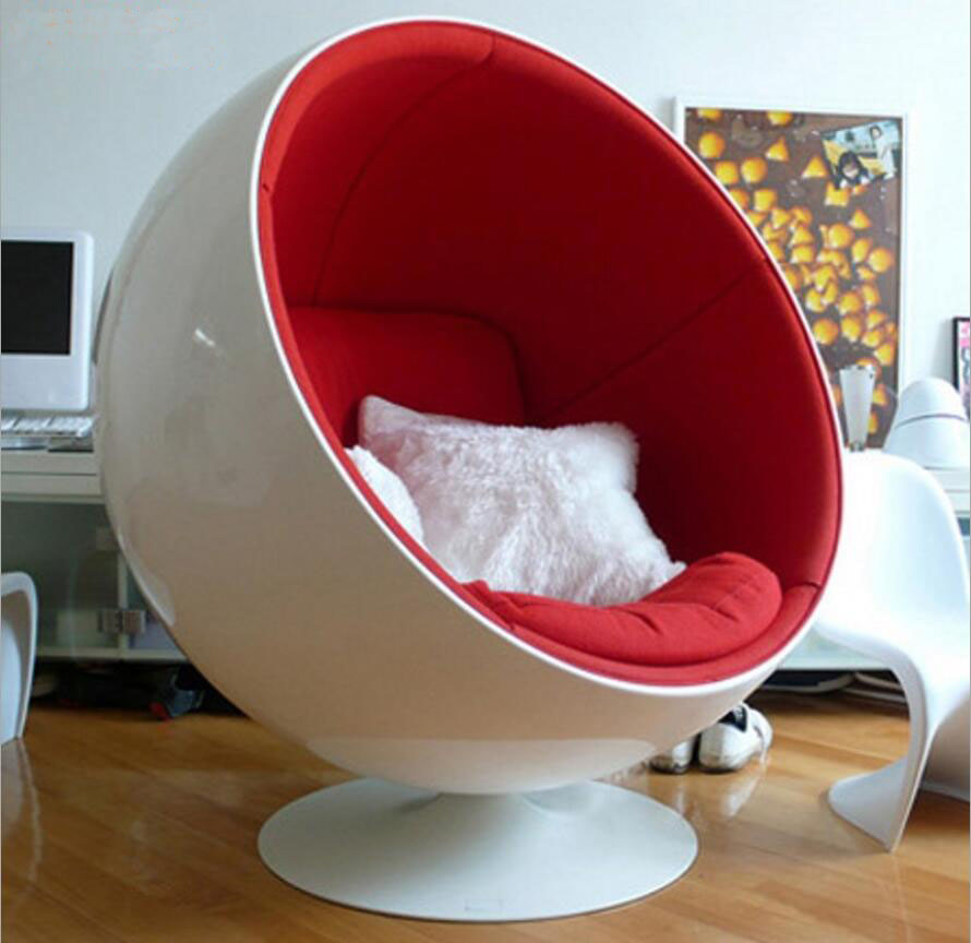 Webetop Retro Living Room Leisure Egg Pod Ball Chair for