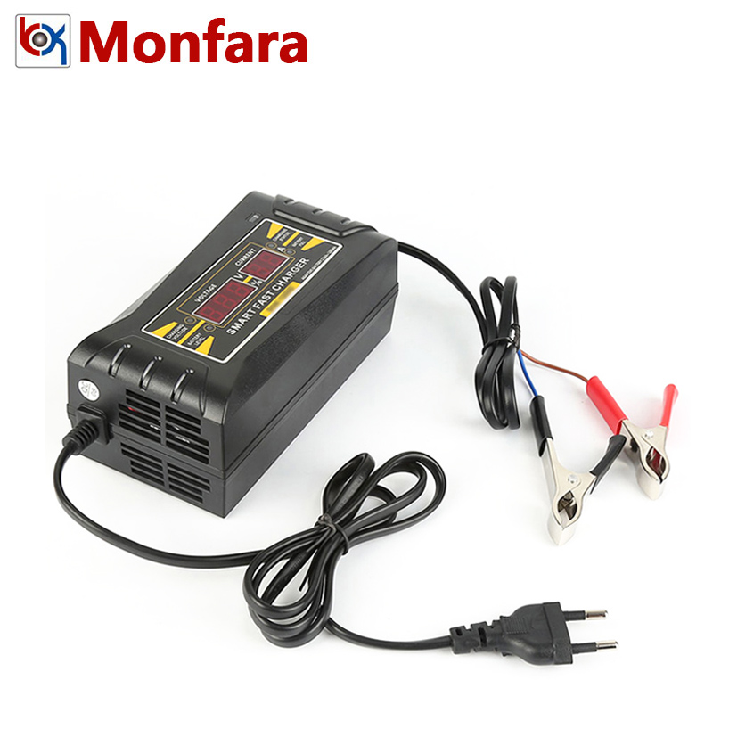 12V 6A Smart Fast Car Battery Charger Auto Lead-Acid GEL Motor Motorcycle Power Adapter Digital LED Automatic 12 V Volt 5 6 A 5A