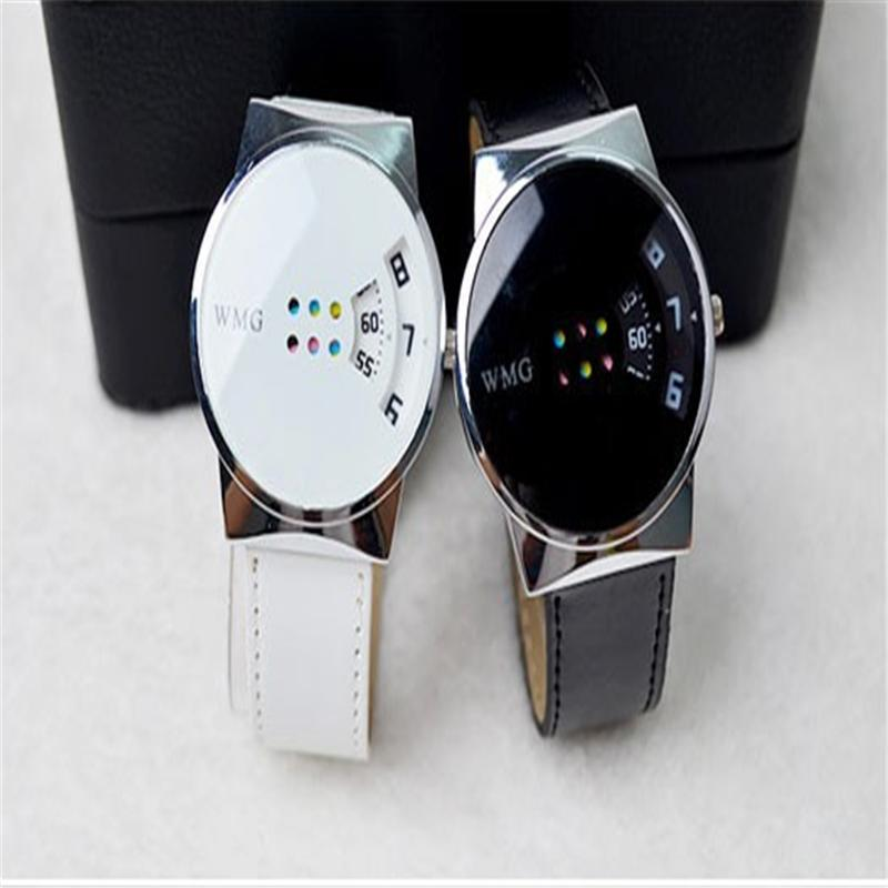 Hot Style Fashion Dial Genuine Leather Strap Top Sale Quartz Watch Women And Men Dress
