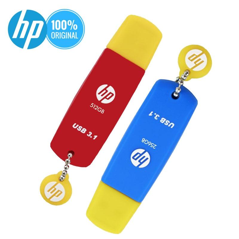 New HP Silicone Usb Flash 512GB 256GB 128GB 64GB 32GB 16GB 8GB USB3.1 DJ Pendrive X788W Original Cle USB 64 Go Flash Disk On Key