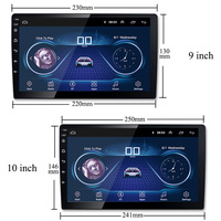 9/10 inch Android 8.1 universal Car Radio 2 din android car radio DVD Player GPS NAVIGATION WIFI Bluetooth MP5 Player
