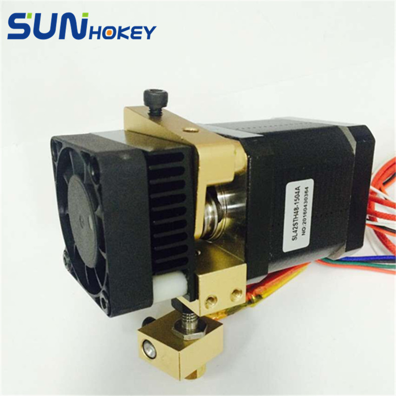 2016 3D Printer Parts i4 3D Printer Head MK8 Extruder with Hotend Nozzle 0 4mm for