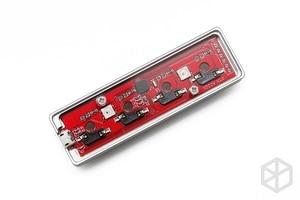 Image 4 - xd004 xiudi 4% Custom Mechanical Keyboard 4 keys switch leds PCB programmed hot swappable macro key silver case micro port