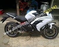Лидер продаж, для Kawasaki Ninja ER 6F 2012 2013 2014 2015 ER6F 12 15 ER 6F 650R Белый Черный мотоциклов обтекателя (литья под давлением)