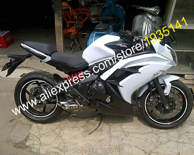 Hot Sales,For Kawasaki Ninja ER-6F 2012 2013 2014 2015 Parts ER6F 12-15 ER 6F 650R White Black Bodyworks Motorcycle Fairing Kit