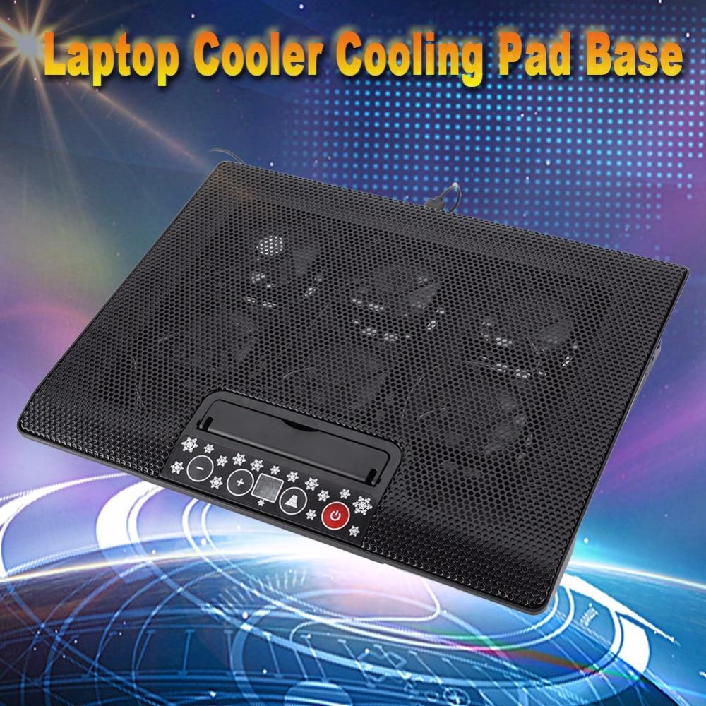 Laptop Cooler Cooling Pad Base USB 6 Fans Adjustable Angle Mounts Stand 17 or Below Notebook adjustable laptop cooler pad usb portable notebook cooler cooling pad for laptop notebook