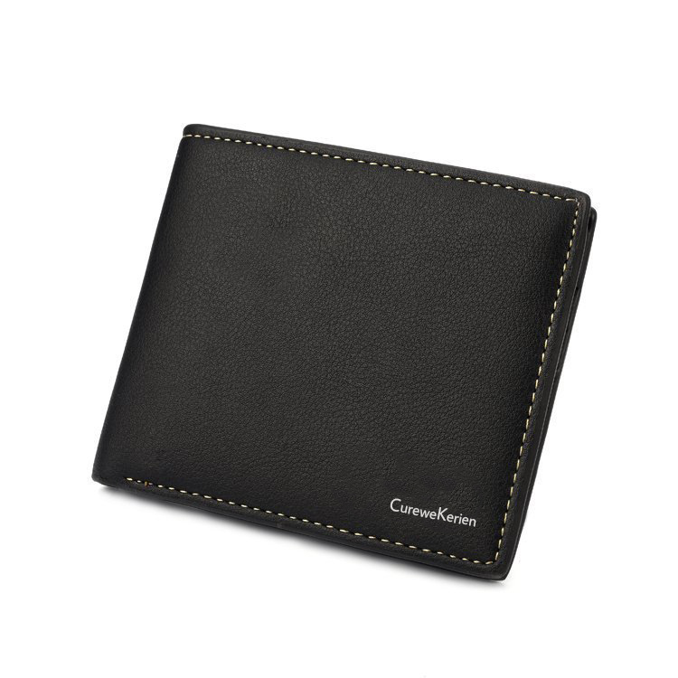 Men Wallet Purse Male Short Genuine Real Leather Coin Card ID Slot New Model Style Hot Sale Creative Stylish Luxury new luxury men s faux leather id credit card holder bifold coin purse wallet pockets male clutch purse for men teenager