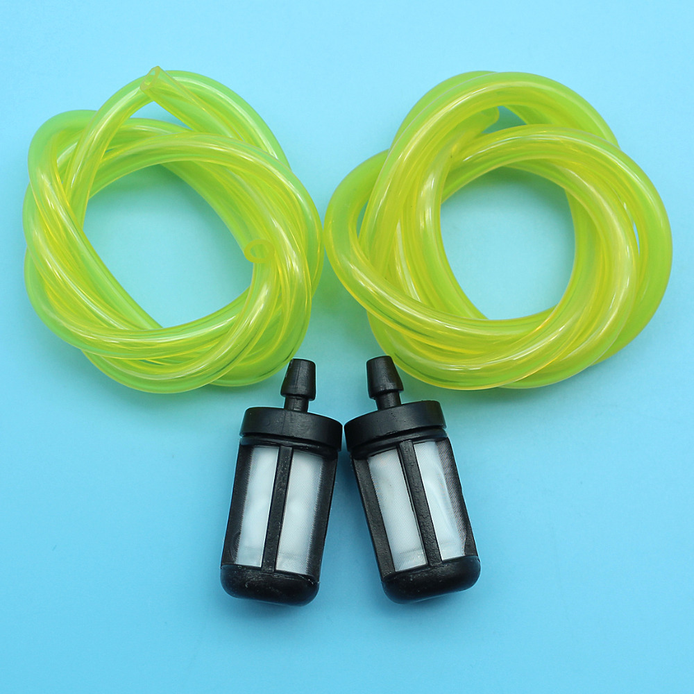 2Feet Tygon Fuel Line Hose (3x5mm & 3x6mm) Fuel Filter Kit For Zama Stihl Poulan Husqvarna Craftsman Chainsaw Trimmer Blowers
