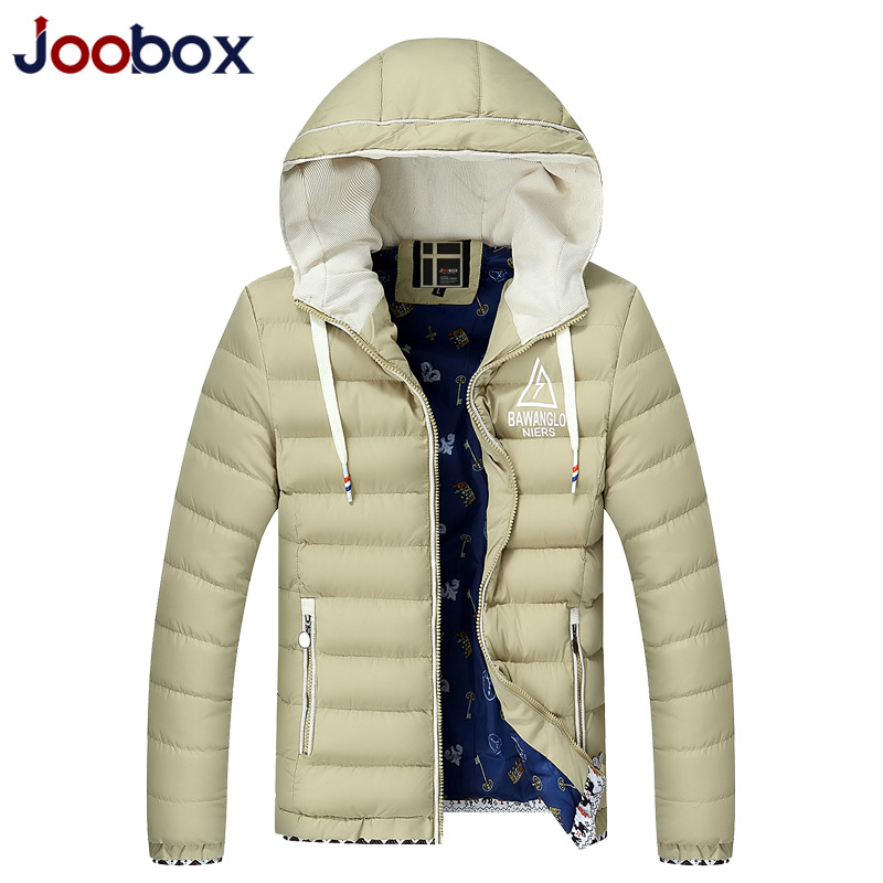 JOOBOX Brand Men Parka 2016 New Fashion Slim Winter Jacket Men Thick Warm Hooded Cotton-Padded Jacket Big Size jaqueta masculina winter jacket men warm coat mens casual hooded cotton jackets brand new handsome outwear padded parka plus size xxxl y1105 142f