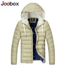 JOOBOX Brand Men Parka 2016 New Fashion Slim Winter Jacket Men Thick Warm Hooded Cotton Padded