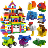 550PCS DIY Animals Vehicle Model Small Particle Building Blocks Educational Toys for Children