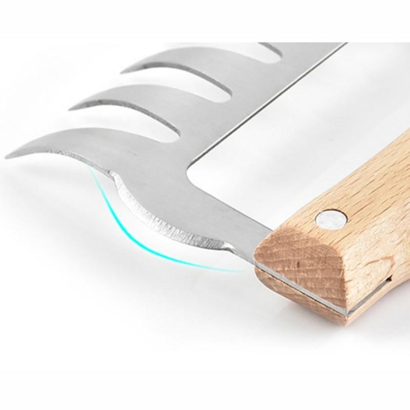 5 stücke Holzgriff Edelstahl Grill Gabeln Grill Spieße Rösten Sticks für Camping-Küchenbedarf Gaskocher, Backofen & BBQs