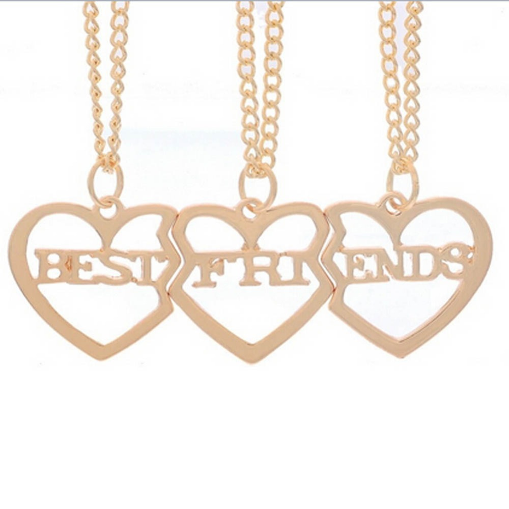 New Style Broken  Parts Heart Pendant Necklace Best Friend