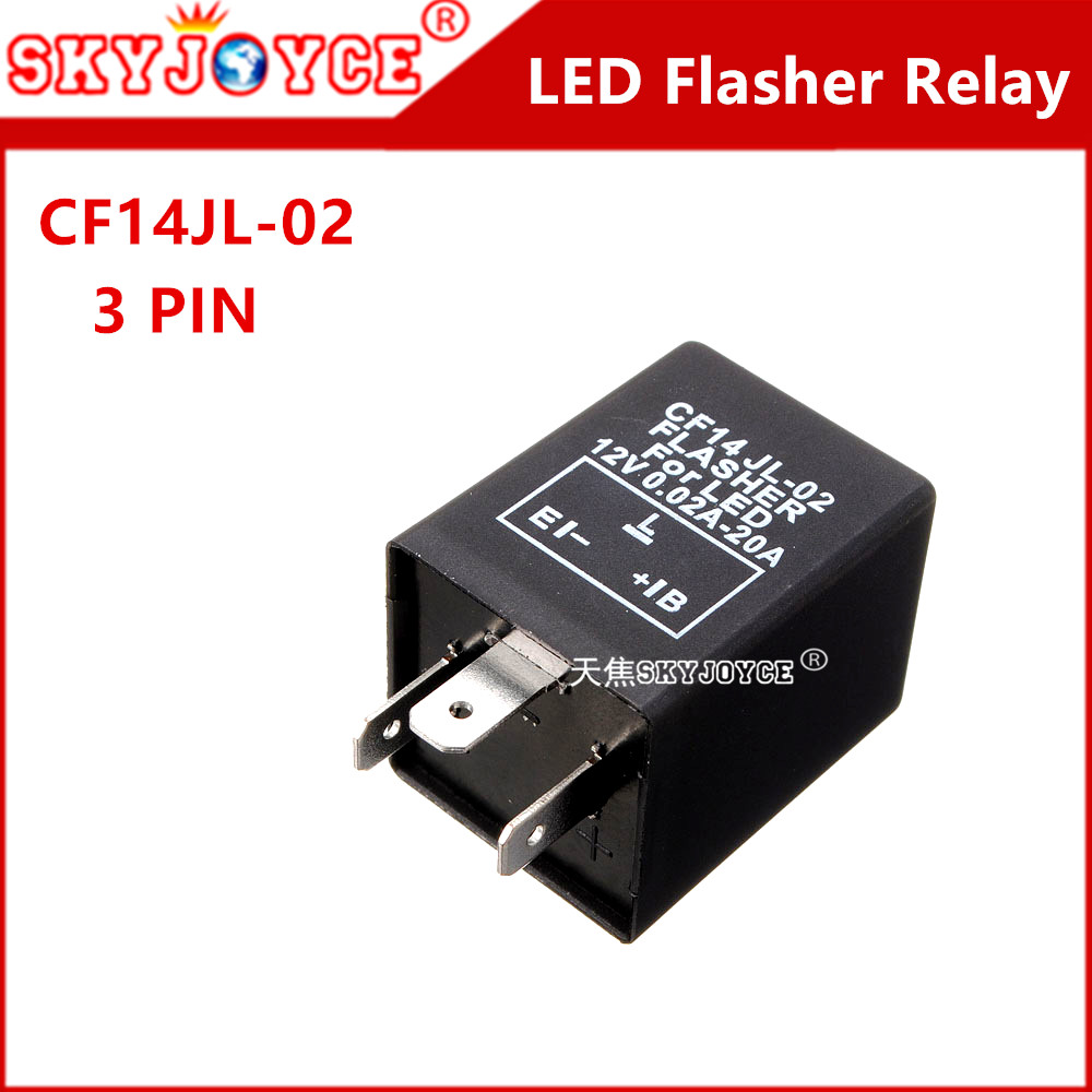 1X CF14 JL LED Flasher 3 Pin Relay Module Fix Auto Motor Turn Signal Light Error Flashing Blink LED/SMD Fast Indicator Blinker