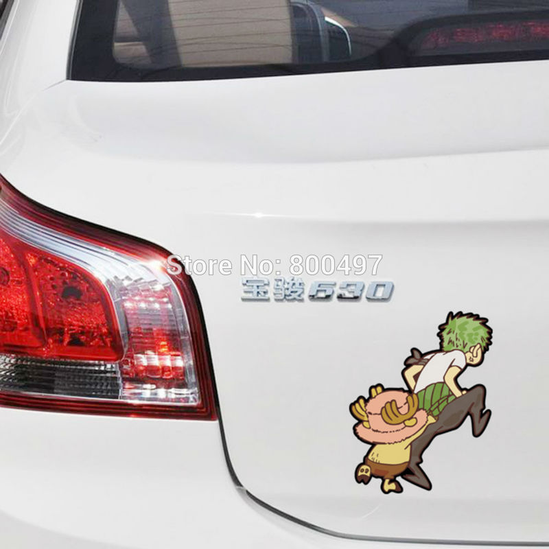 Nice 2 X Funny Car-styling Car Sticker One Piece Chopper Flying Decal For Tesla Ford Chevrolet Volkswagen Honda Hyundai Peugeot Skoda With The Best Service Exterior Accessories Car Stickers