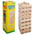 1 lote = 48 Pcs caída torre jogo caída Stacking Jenga torre frete grátis em todo o mundo