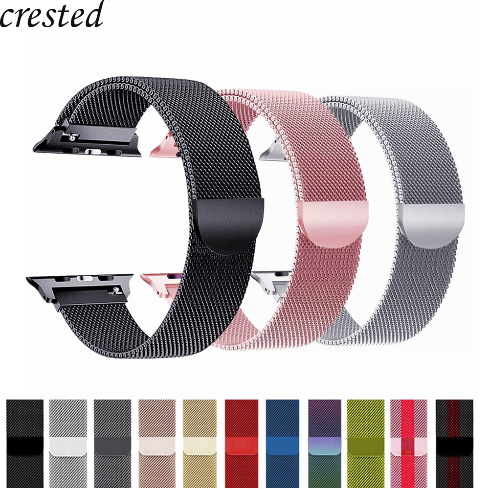Strap Für Apple Uhr band 42mm/38mm iWatch 4 band 44mm/40mm Milanese Schleife armband Edelstahl Armband Apple uhr 4/3/21