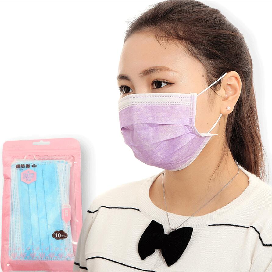 10pcs Medical masks Non-woven disposable anti-dust mouth mask Anti virus mask Mouth-muffle Flu Face masks mascarilla antipolvo image