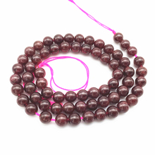 Natural Stone Garnet Beads Round Smooth Ball 5 mm 6 mm Good Quality DIY Jewelry Making Supplies