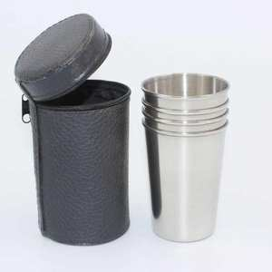 Pint-Cup-Set Metal Mini Outdoor Everyday-Use Mug Stainless-Steel Beer 4pcs for 70/150ml