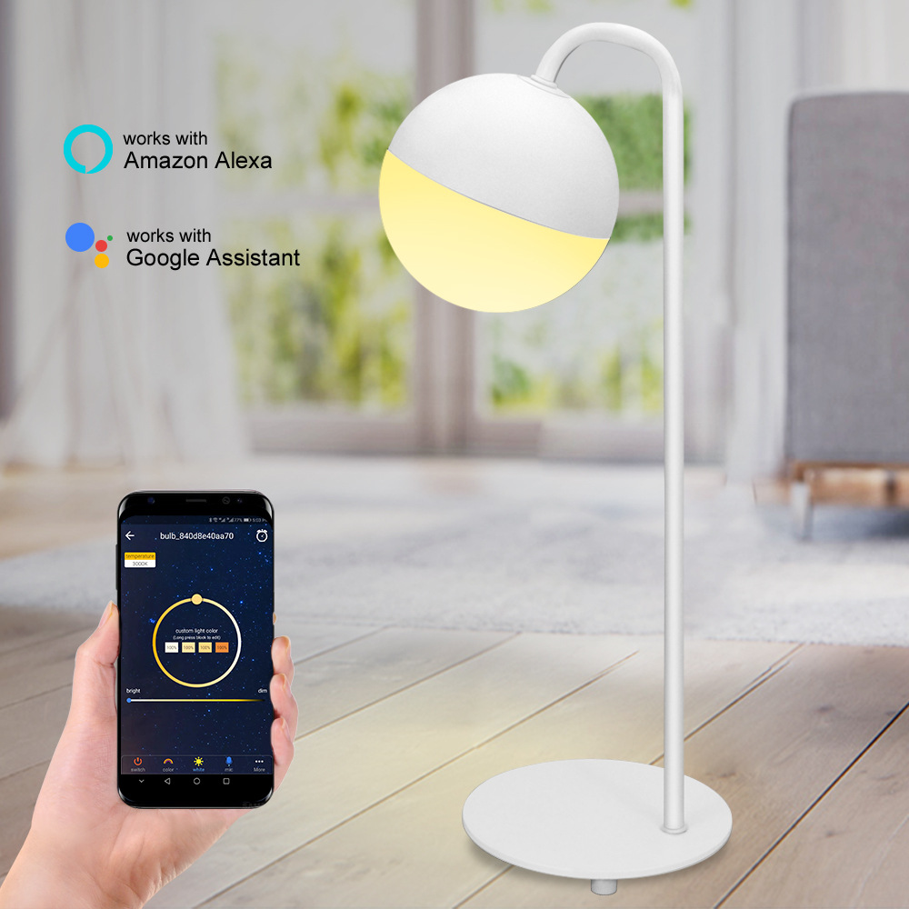 HZFCEW Smart Table Lamp with WiFi Alexa Google Home Ambient Multicolored LED Light Bedside Lamp Voice Control APP ControlHZFCEW Smart Table Lamp with WiFi Alexa Google Home Ambient Multicolored LED Light Bedside Lamp Voice Control APP Control