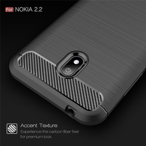 Image 3 - Silicone Case For Nokia 2.2 2 For Nokia 2.1 2V ShockProof Fitted Carbon Fiber TPU Phone Cover For Nokia 2.2 Case