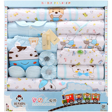 цена 18 PCS 2019 Newborn Thick Baby Girl Clothes Winter Cartoon World Gift Box Set Thick Cotton  Baby Boy Clothes without Giftbox онлайн в 2017 году