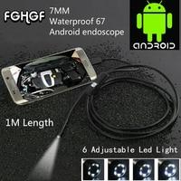 FGHGF Su Geçirmez 480PHD 7mm lens Muayene Boru 1 m Endoskop Mini Android PC Için USB Kamera Yılan Tüp 6 Led Borescope HotSale