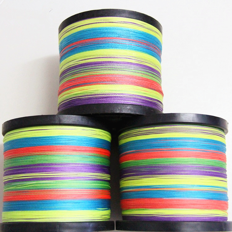 500 meters 8 strands strong PE fishing line colorful sea pole mainline anti fish bite proof fishing lure thread braid