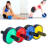 Double-wheeled Updated Ab Abdominal Press Wheel Rollers Hot Selling Gym Crossfit Exercise Equipment for Body Building Fitness