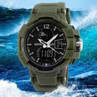 Military Quartz Men Watches Electronic Wristwatch Sport Top Brand Luxury Dual Time Shock Resistant Alarm Digital