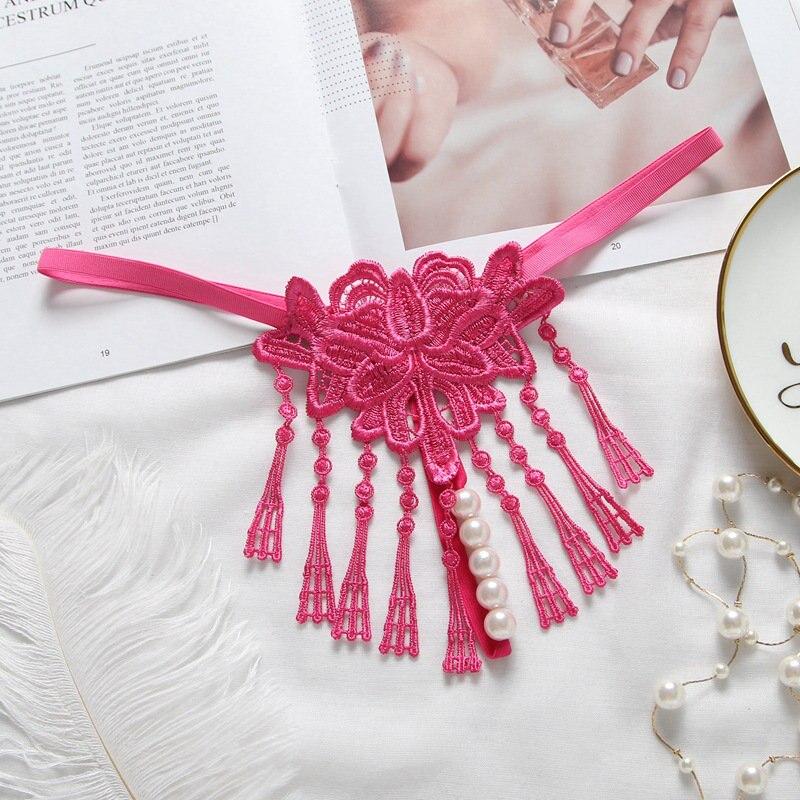 Niedrigen Taille Höschen Frauen Perle Massage Frauen Thongs Und G Strings Sexy Quaste Frauen Schriftsätze Plus Größe Frauen Unterwäsche Höschen 29