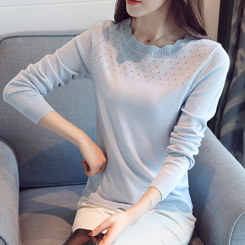 Korean Slim Winter Sweater For Women Round Neck Women Christmas Sweater Pullovers 2017 Knitted Sweaters Female Solid Color S-XL