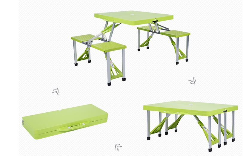 Folding Outdoor Tables portable camping table Beach Tables Garden table with chairs the new portable outdoor folding table chairs aluminum suitcase suit