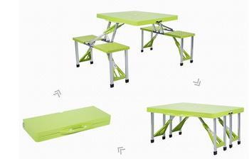 Składane na zewnątrz stoliki przenośny stół kempingowy plaży stoły ogród stół z krzesłami tanie i dobre opinie Na zewnątrz tabeli Meble ogrodowe Samowystarczalny L85 5*W65*H67CM Minimalistyczny nowoczesny Nowoczesne NoEnName_Null