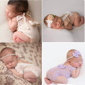 Baby Girls Lace Ruffled Romper Toddler Infant Jumpsuit Cake Smash Outfit Baby 1st Birthday Outfit Photo Props infant photo shoot(China)