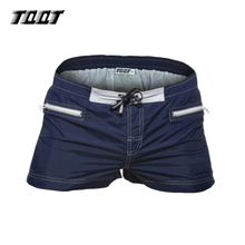 TQQT men shorts low elastic waist shorts fitness shorts zipper 3 pockets solid causal paradeplatz short 4 colors 5P0642