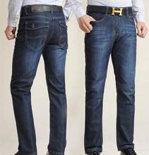 Бесплатная доставка Весной и летом джинсы мужские плюс размер свободные прямые длинные брюки жира очень большие случайные брюки размер 28-48