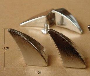 10PCS 10*20mm Silver Punk Rock DIY Stud Rivet Horn Screwback Spikes Decoration Metal Bullet Tachuelas Para Ropa