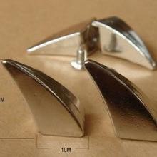 10 шт. 10*20 мм Серебряный панк-рок DIY шпилька заклепки Рог отвертка шипы украшения металлические пули tachuelas para ropa