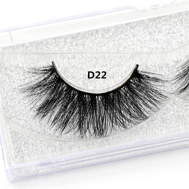 LEHUAMAO Mink Lashes 3D Mink False Eyelashes Long Lasting Lashes Natural Lightweight Mink Eyelashes Fluffy Dramatic Eye Makeup 4