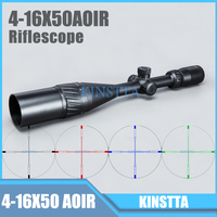 Tactical 4 16X50 AOIR Red Green Blue Color Reticle Optics Riflescope Illumination Rifle Scope For Hunting