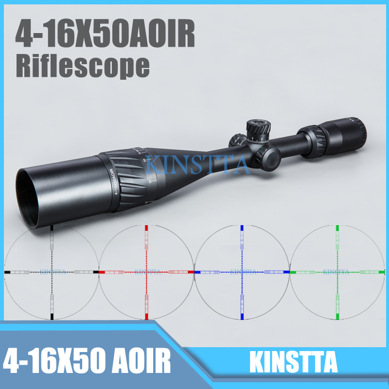 US $60 01 31% OFF|Tactical 4 16X50 AOIR Red Green Blue Color Reticle Optics  Riflescope Illumination Rifle Scope For Hunting CS Battle-in Riflescopes