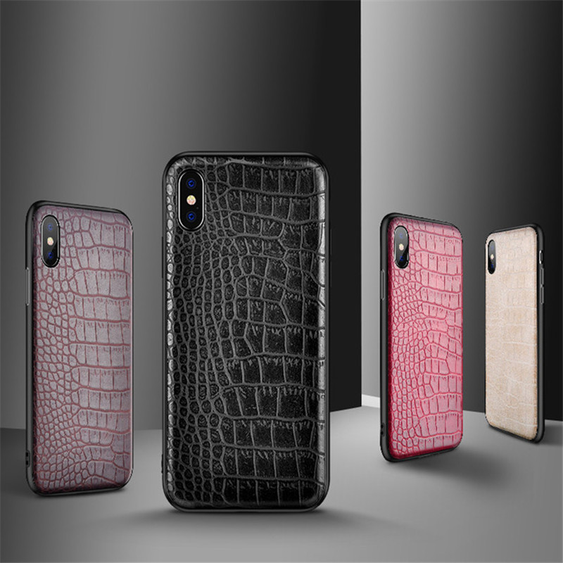 Luxury 3D Crocodile Snake skin phone Case For iPhone 8 7 6 S 6S Plus Vintage Business PU Leather Back Cover For iPhone X 8Plus