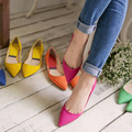 2017 new fashion 35-41 Free shipping spring women shoes breathable PU leather candy color colorful soft women flats high quality