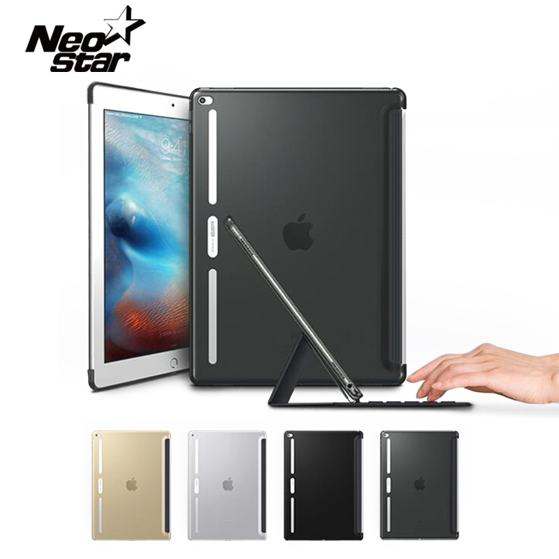 Ultra Thin Case for iPad Pro 12.9 inch for iPad Pro 9.7 inch Slim TPU Bumper Corner Back Cover With Film Stylus Pen Tablet PC