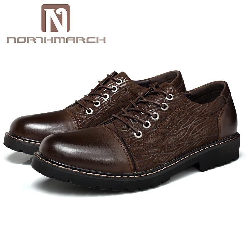 NORTHMARCH Fashion Luxury Men Shoes Casual Genuine Leather Classic Male Elegant Men Shoe Office Dress Shoes Mens Zapatos Hombre цена