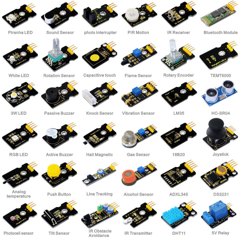 NEW! Keyestudio 36 in 1 sensor kit for Arduino starters+PDF