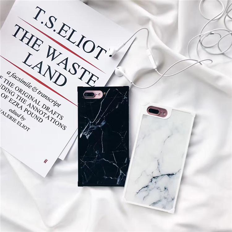 Glossy hybrid marble phone case for iphone X 7 8 7Plus Stone pattern silicon Case for iphone 6 6s 6Plus back cover Lady style