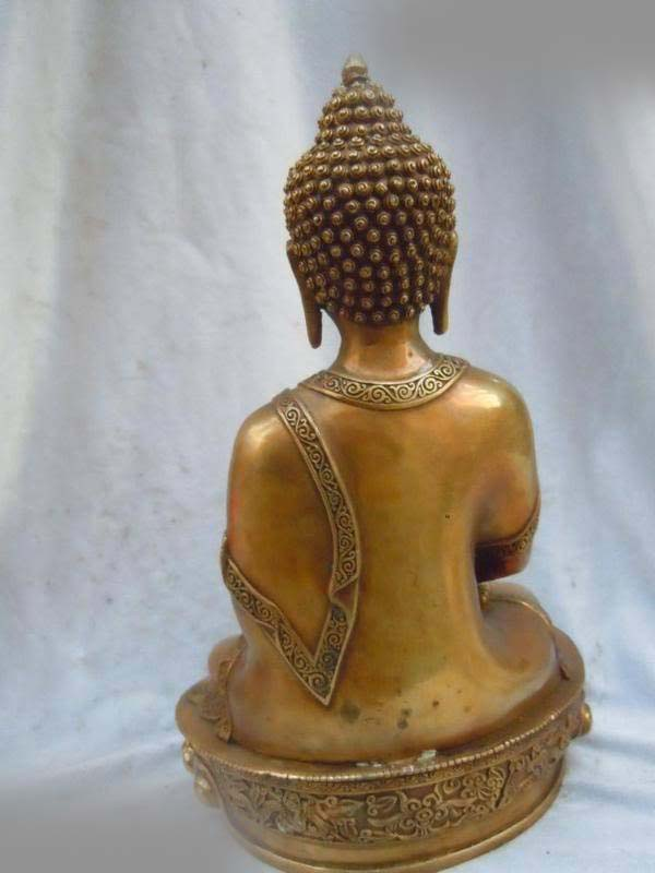 free shipping  12 China finely brass carved apothecary buddha Bodhisattva sculpture statue